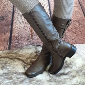 Women's Distressed Leather Mid Boots Size 7